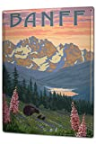 Blechschild XXL Abenteurer Banff Kanada