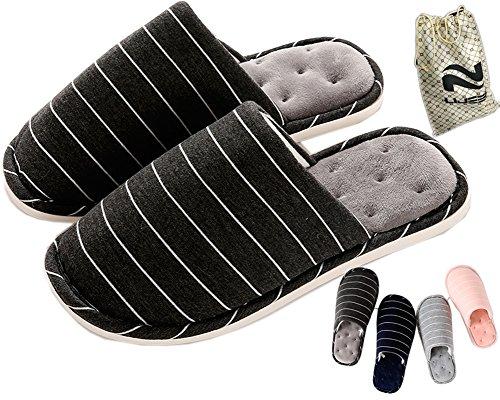 Pantofole Interne Lijeer Fondo Morbido Casa Casa Autunno Inverno Memory Foam Pavimento In Legno Coppia Cotone Uomo Donna Warm ? Nero