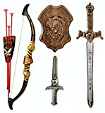 Bahubali Warrior Set - Knights Fancy Dress Kids Cosplay - Bow Archery , King's Sword, Shield and Dagger