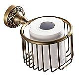MEIBATH Bad Toilettenpapierhalter Antiker runder Toilettenpapierkorb Halter Toiletten Organisator an der Wand befestigt für Badezimmer Toilette