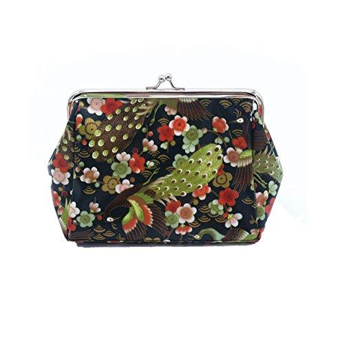 LHWY Las Mujeres De SeñOra Retro Vintage PequeñA Carpeta Hasp Bolso Clutch Bag (A)