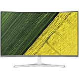 Acer 31.5-inch (80.01 cm) Curved Full HD LED Backlit Computer Monitor with Stereo Speakers - ED322Q (White)