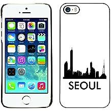 STPlus Seoul, Corée du Sud Ville horizon silhouette carte postale Coque Rigide Étui Cache pour Apple iPhone SE / 5 / 5S