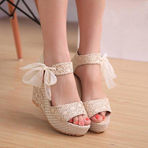 Hunpta Frauen Mode Sommer Hang mit Flip Flops Sandalen Slipper Schuhe Weiß