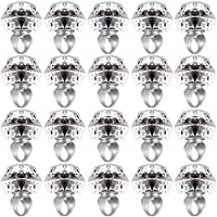 Hicarer 20 Pieces Light Up Rings Flashing Plastic Diamond Bling Rings LED Glow Rings for Birthday, Bachelorette or Many Party