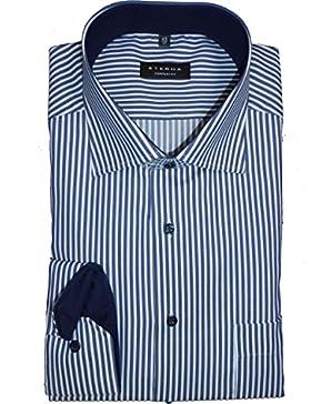 eterna Hemd Comfort Fit blau/weiss gestreift 8982/19 E15K extra langer Arm 72 cm