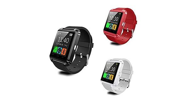 Polaroid Timezero Montre connectée sous Android, avec fonction appels, répertoire, musique, podomètre, blanc: Amazon.fr: Montres