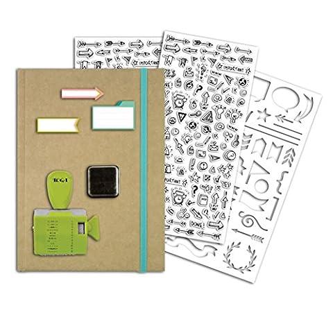 Cahier A5 240 Pages - Toga KT74 Kit Bullet Journal Carnet Kraft