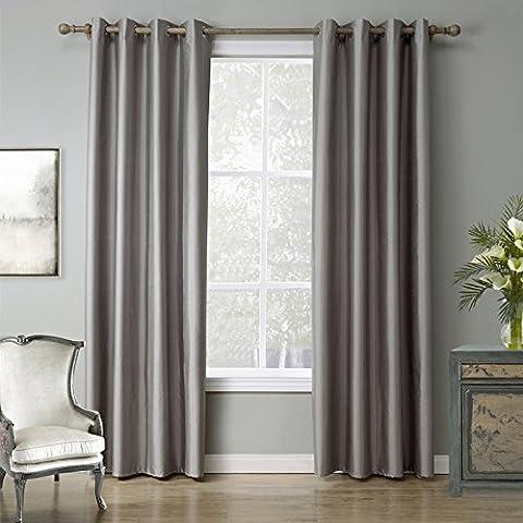 Blackout caldo finestra della camera decorazione tende di lino puro semplice imitazione finito doppia Palazzo , c21082 , 52x63inch