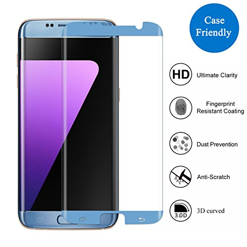 Samsung Galaxy S7 Edge Screen Protector,3H PremiumTempered Glass Screen  Protector Film[3D Coverage][Case-Friendly][Not Easy to Drop Off]Thickness  HD