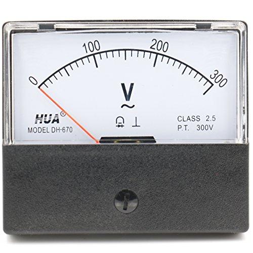 Rechteckige Panels (heschen rechteckig Voltmeter Analog Panel Volt Spannung Meter 670Stil AC 0-300V Klasse 2,5)