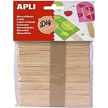 Apli 946036 - Pack de 50 palos de polo, de madera natural