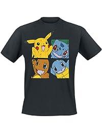 Pokemon Pikachu and Friends T-Shirt Black L