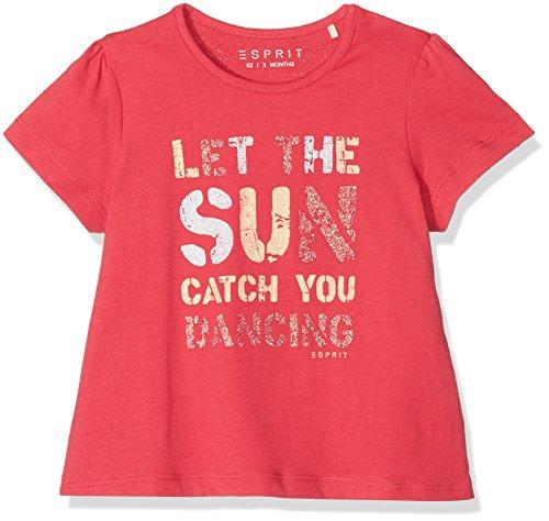 ESPRIT Kids Baby-Mädchen T-Shirt RL1021104, Pink (Pinky Red 357), 74