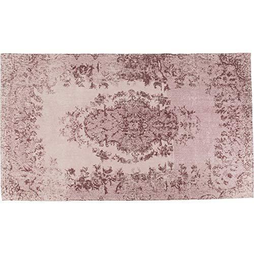 Kare Design Teppich Kelim Ornament Powder, großer Wohnzimmerteppich, Bodenteppich mit Vintagemuster, Vorleger, Läufer, Pink (H/B/T) 1x170x240cm