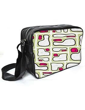 Snoogg MIZ Labyrinth 2455Leder Unisex Messenger Bag für College Schule täglichen Gebrauch Tasche Material PU