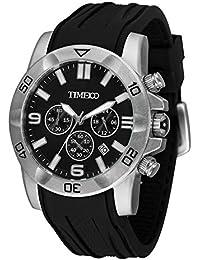 fdd2a088032d Time100 Fashion Reloj Pulsera de curazo cronógrafo para Hombre