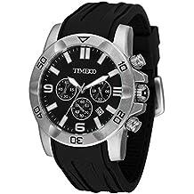 Time100 W70113G.01A Fashion Reloj pulsera de curazo cronógrafo para hombre, con funciones diferentes