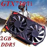 Grafikkarten, Hunpta GTX 750Ti 2 GB DDR5 128 Bit VGA DVI HDMI Grafikkarte Für NVIDIA für GeForce (Schwarz)