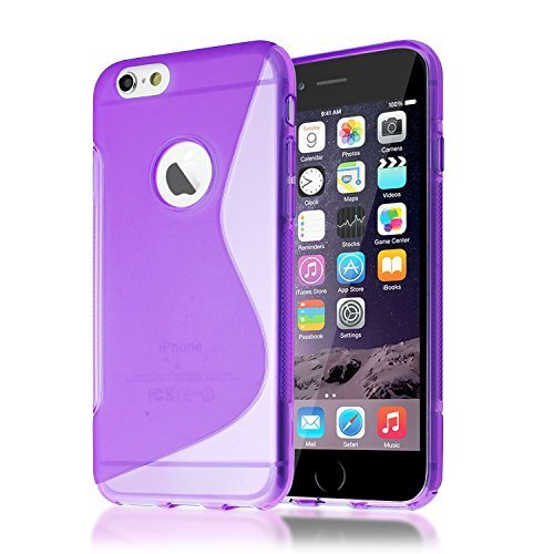 Connect Zone iPhone 7 (11.9cm) S Ligne TPU Silicone étui housse brillant Skin - Violet S Ligne Gel, iPhone 7 (4.7 inch)