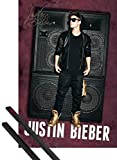 1art1® Poster + Suspension : Justin Bieber Poster (91x61 cm) All Around The World, Autographe Et Kit De Fixation Noir