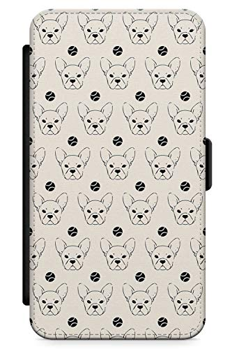 iPhone XR Case Französisch Bulldoggen-Liebe   Kunstleder Brieftasche Flip Card Slot Cover Kickstand   Tennis Ball Frenchie Geschenk Süss Doggo -
