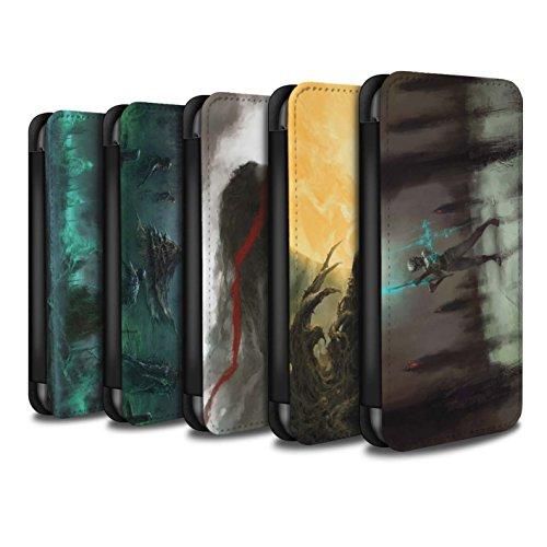 Offiziell Chris Cold PU-Leder Hülle/Case/Tasche/Cover für Apple iPhone 5C / Pack 5pcs Muster / Unterwelt Kollektion Pack 5pcs