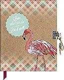 Brunnen Tagebuch mit Schloss Flamingo Notizbuch
