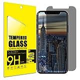 Vetro Temperato iPhone X, AILRINNI Pellicola Vetro iPhone X / iPhone 10 Anti-Spy Schermo [Privacy Glass] Anti graffio Ultra resistente Pellicola Protettiva per iPhone X / iPhone 10 - Nero