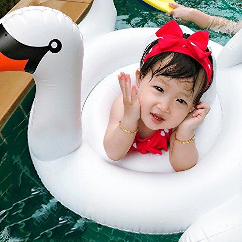 Aufblasbare Schwan Baby Schwimmsitz Baby Schwimmring Schwimmhilfen Schwimmbad Strand Wasserspielzeug für Kinder 6-36 Monate