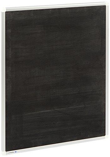 Legamaster 7-600052 Premium Rillentafel, Hartgummi, 80 x 60 cm, vertikal, schwarz