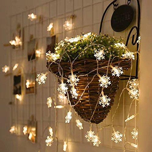 Morbuy LED Snowflake Luces de la Batería de 3m 20 LEDs Interior...