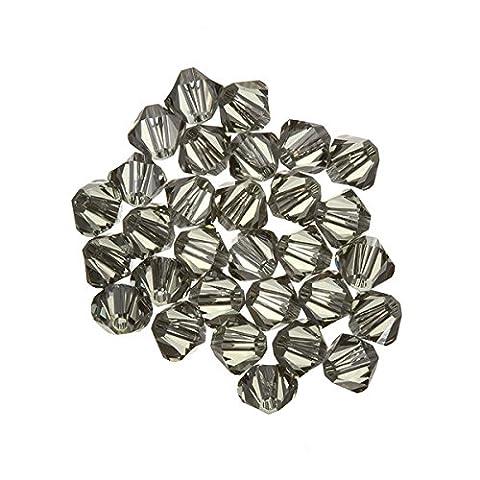 Swarovski perles toupies cristal (215) Diamant Noir (Swarovski Xilion Diamante)