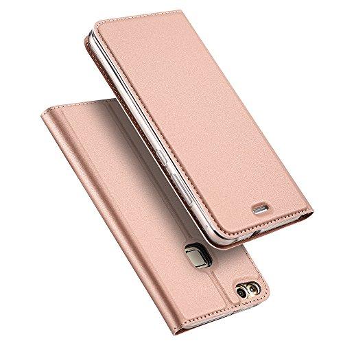 Produktbild Huawei P10 Lite Hülle, DUX DUCIS Skin Pro Series Ultra Slim Layered Dandy, Ständer, Magnetverschluss,TPU Bumper, Full Body Schutz für Huawei P10 Lite (Rose gold)