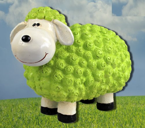 Figurine de mouton Susanne en vert moutons animaux multicolores Figurines pour la maison et le jardin