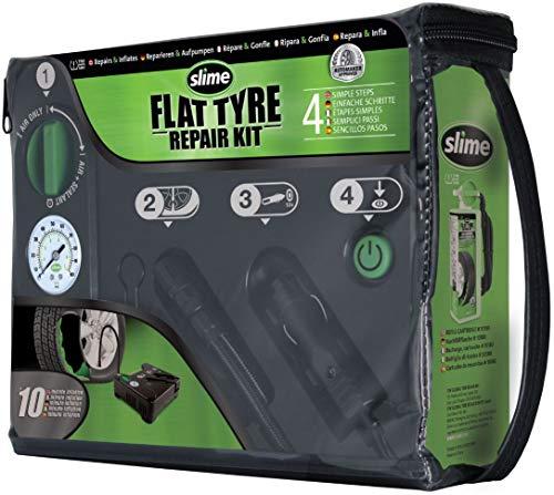 SLIME 509759 Flat Tyre Repair Kit Reifen-Pannenset mit Kompressor + Dichtmittel