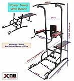 Power Tower DIP station chin up bar regolabile stazione Vkr ABS allenamento tricipiti ginocchio Crunch station