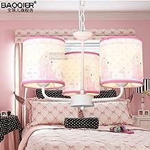 MSAJ-Caricatura infantil los ni?os creativos lindo rosa chica la jirafa moderna decoraci¨®n de dormitorios l¨¢mparas de techo