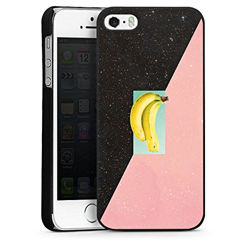 Apple iPhone 4 Housse Étui Silicone Coque Protection Banane Hipster Étoiles CasDur noir