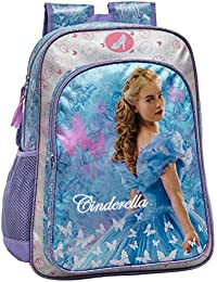 Disney Cenicienta Mochila Escolar, Color Azul