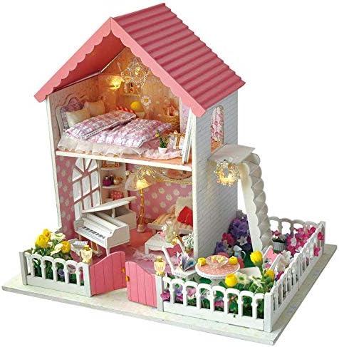Maison de poupée miniature bricolage Bricolage Maison BâtiHommes t Modèle En Secret Jardin Creative Anniversaire Présent En Modèle Bois Artisanat Jouets Pour  s Mini Diorama Maison Rénovation DIY Dollhouse - C B07L1G6XBK 281a76