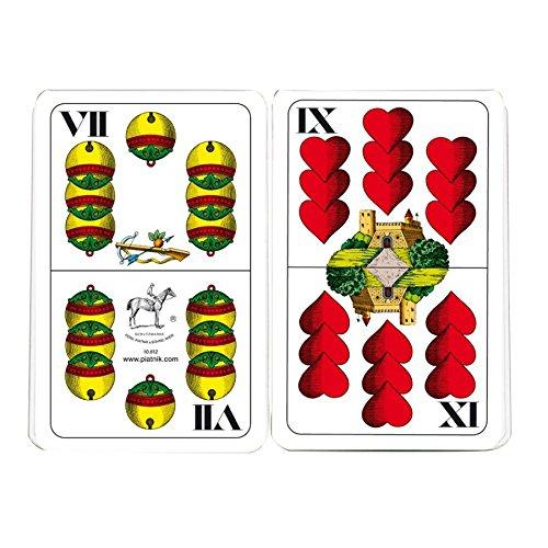 """Piatnik 1801 - Riesenspielkarten \""""Doppeldeutsch\"""", 36 Blatt"""