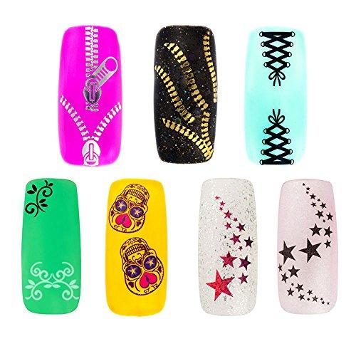 Set Kit Premium de condecoraciones Nail Art con Stickers Decals...