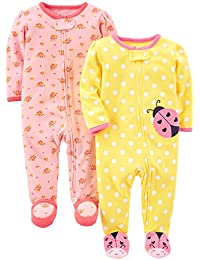 Simple Joys by Carter's Baby-Girl's 2-Pack Cotton Footed Sleep and Play