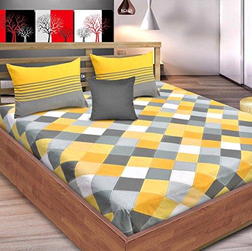 Loreto Premium 144 TC 100% Cotton Double Bedsheet with 2 Pillow Covers...
