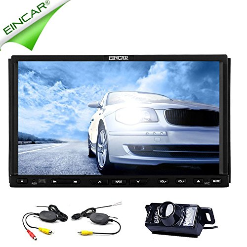 EinCar Kapazitive GPS Navigation Multimedia-System Autoradio Auto-DVD-Player CD-Radio Receiver FM AM Audio 2 Din Bluetooth Fahrzeugteile Stereo-Video Eingebaute RDS in Sub AMP Wireless-Backup-Kamera Amp Stereo Sub