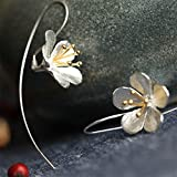 Kitchen & Housewares : LnLyin Silver Plated Lily Earrings Chic Jewelry Gift for Women