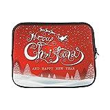 JSXMNA Design benutzerdefinierte Frohe Weihnachten jeder grußkarte Vintage hülse weiche Laptop Tasche Tasche Haut für MacBook air 11