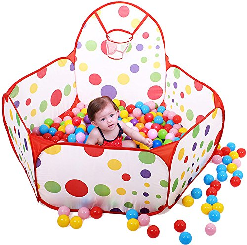 Webby Kids Play Zone Tent with 50 Balls, Multi Color