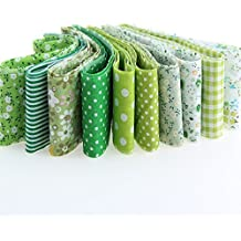 7 cintas verdes algodon costura, scrapbooking .. 1m x 5 cm.